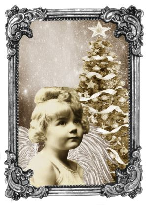 Little Christmas Angel by Shirley-Agnew-Art
