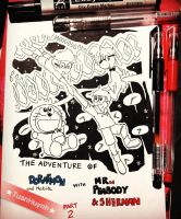 Doraemon crossover Mr.Peabody : New cover by doraemonbasil