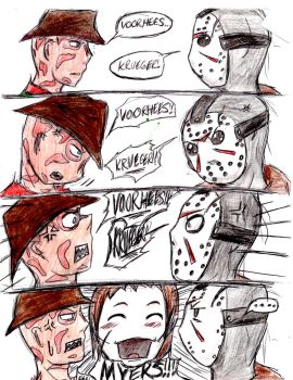 Freddy vs Jason.. and Michael? by HorrorMadnessPeep