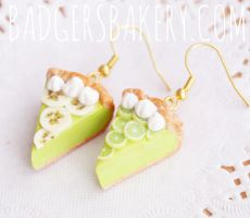 Key Lime Pie earrings by BadgersBakery