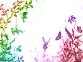 Wallpaper Fairies II by hydrachan