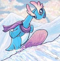 Shredding the Snow and Ice by Sharulia