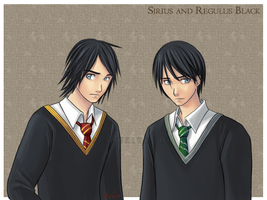 Sirius and Regulus Black by Spacekitty04