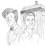 king-of-thelab: Eleven and a friend by pai-draws