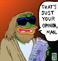 Pepe the dude by Ohthehumanityplz