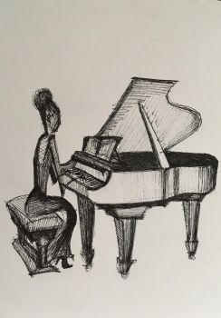 The pianist girl by paulboni