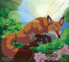 When Foxes Flutter by LCibos