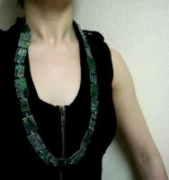 Long Motherboard Necklace by Divulged