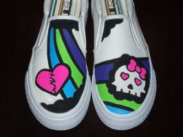 Custom Shoes: Skull by kustom-kicks
