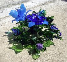 Flower Bouquet - blue by Glasmagie