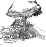 The Unfinished Tree Drawing by frumpy