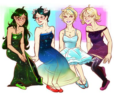 Homestuck: Pretty dresses by mansly