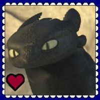 Toothless Stamp by MorkelebTheDragon