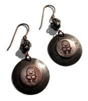 Retro Robot Earrings by JLHilton