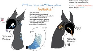 Sexy and we knows it-Feathermask Auction .:CLOSED: by MUTTD0G
