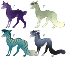 Panther Hound Adoptables 5 CLOSED by NakkAdoptables