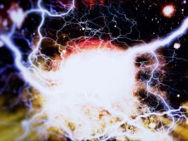 space with big bang with electricity by 4dpaul