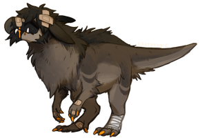 the fluff dino by Rivertonic