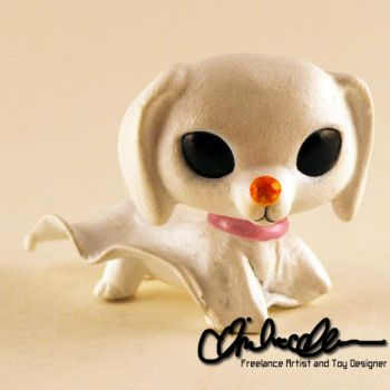 Zero from Nightmare Before Christmas custom LPS by thatg33kgirl