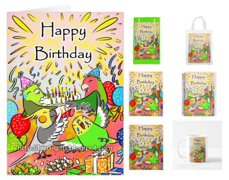 Little parrots happy birthday party by emmil