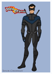 Teen Titans - Nightwing Redesign by Femmes-Fatales