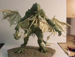 Cthulhu Statue Raw by Trapjaw
