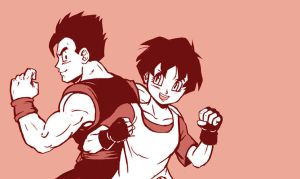 Gohan and Videl by Risachantag