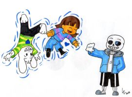 Undertale quick drawing #32:Gravity by Clemi1806