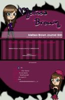 Free Melissa Brown Journal Skin by CallMeDani