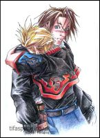 Squall and Zell by tifachan