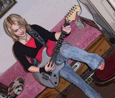 Mee with a guitaar by Ewanecka
