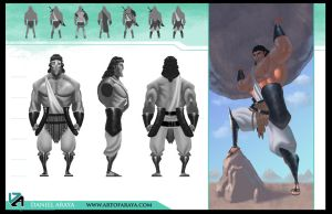 Heracles Model Sheet by DanielAraya