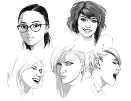 Face practise II by meago
