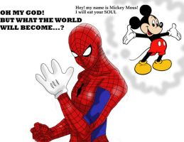 Spider man And Mickey Mouse by Taiylor