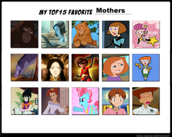 My Top 15 Favorite Animated Moms by PurfectPrincessGirl