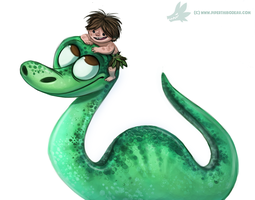 Daily Paint #975. The Good Dinosaur (FA) by Cryptid-Creations