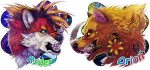 .:YCH Comm: Ryder and Orion Headshots:. by Mayasacha