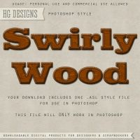 PS Style: Swirly Wood by HGGraphicDesigns