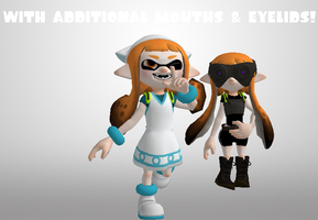 Splatoon - Inkling Girl [Additional Outfits] *XPS* by CreamFireballXNALara