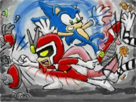 Sonic and Joe by BlehMaster7