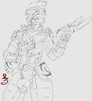 Feral Guardswoman by Zscribe