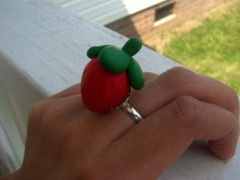 Strawberry ring by jely-claris-anne