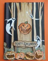 Handmade *Nightmare Before Xmas* Halloween Card. by PossumPip-Creations