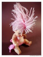 Pink Mohawk Doll 3 by punksafetypin