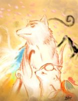 Okami and Okamiden by creationbrewahoi