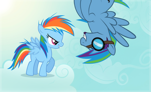 Dashie's First Flight by LugiaAngel