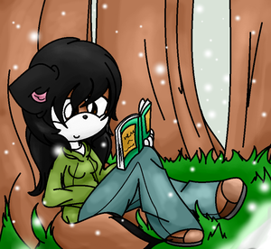 Reading In the Snow by abbyfirecat