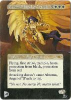 MTG Altered Art: Akroma, Angel of Wrath by LXu777
