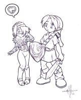 Link y SheikNo they are NOT SD by gunmouth