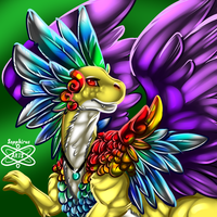 Colorful Wonderous Male Coatl Dragon +FR+ by iSapphirus